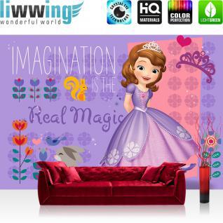 liwwing Vlies Fototapete 416x254cm PREMIUM PLUS Wand Foto Tapete Wand Bild Vliestapete - Disney Disney - Sofia die Erste Tapete Sofia die Erste Kalle Magic lila - no. 3335