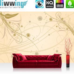 liwwing Vlies Fototapete 350x245 cm PREMIUM PLUS Wand Foto Tapete Wand Bild Vliestapete - Ornamente Natur Pflanzen - no. 208