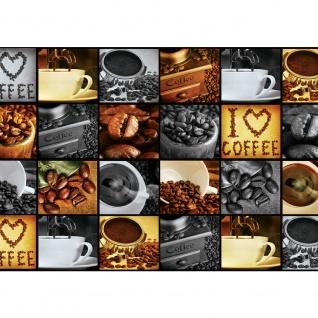 Fototapete Kaffee Tapete Coffee Kaffeebohnen Bohnen Herz Tasse braun | no. 2920