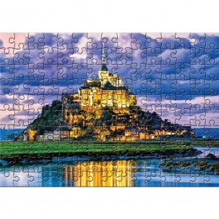 Fototapete Frankreich Tapete Le Mont-Saint-Michel, Puzzle, Meer, Küste bunt | no. 3243