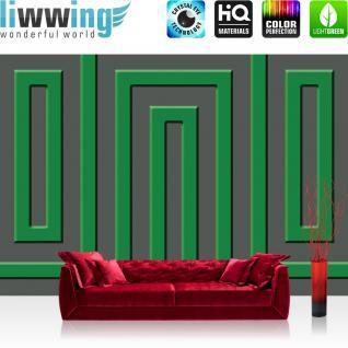 liwwing Vlies Fototapete 312x219cm PREMIUM PLUS Wand Foto Tapete Wand Bild Vliestapete - Kunst Tapete Abstrakt Linien Vierecke grau - no. 2192