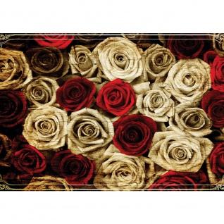 Fototapete Blumen Tapete Rosen Blume Blüte Pflanze Liebe Ornamente Rahmen sepia | no. 2410
