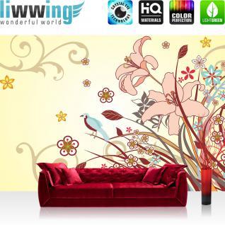 liwwing Vlies Fototapete 416x254cm PREMIUM PLUS Wand Foto Tapete Wand Bild Vliestapete - Wald Tapete Bäume Sonnenstrahlen Sonne Natur schwarz weiß - no. 2229