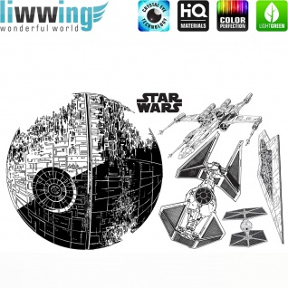 Wandsticker Disney Star Wars - No. 4669 Wandtattoo Sticker Kinderzimmer Laserschwert Weltall Raumschiffe Jungen