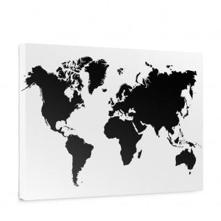 Leinwandbild Weltkarte Landkarte Erde Globus Kontinente | no. 5137
