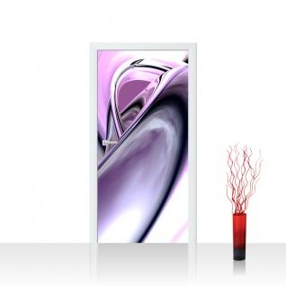 Türtapete - Purple Climax 3D Digital Art Abstrakt Schwung blau rot lila | no. 9