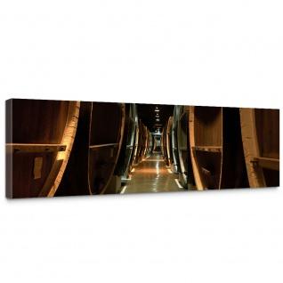 Leinwandbild Old Wine Barrels Weinkeller Weinfäasser Fass Fässer Keller Stollen   no. 58