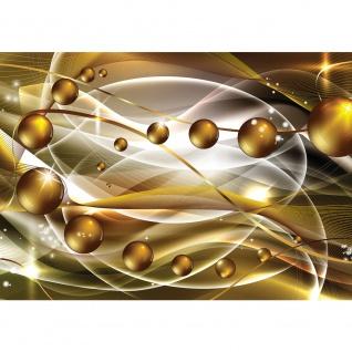 Fototapete Ornamente Tapete Kunst Kugeln Perlen Streifen Linien Schwung Bewegung gelb   no. 1402