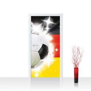 Türtapete - Fussball Ball Sterne Deutschland | no. 1036