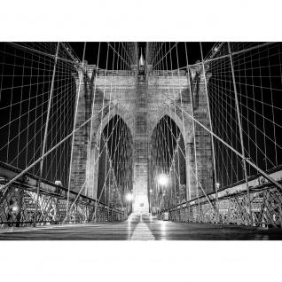 Fototapete Architektur Tapete Brücke Architektur Seile Weg Licht Steine anthrazit | no. 2445