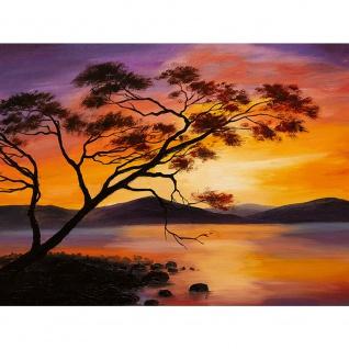 Leinwandbild Sonnenuntergang Baum Natur Romantisch Urlaub | no. 241 - Vorschau 3
