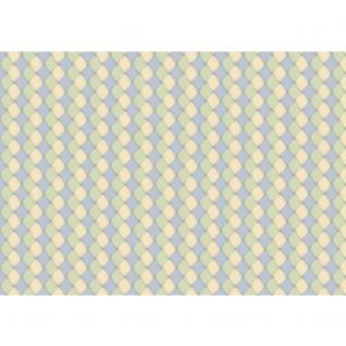 liwwing Vlies Fototapete 400x280 cm PREMIUM PLUS Wand Foto Tapete Wand Bild Vliestapete - Illustrationen Tapete Abstrakt Rechtecke Kacheln Formen bunt Muster blau - no. 394 - Vorschau 2