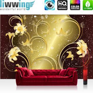 liwwing Vlies Fototapete 104x50.5cm PREMIUM PLUS Wand Foto Tapete Wand Bild Vliestapete - Kunst Tapete Abstrakt Design Dreiecke Origami grau - no. 2352