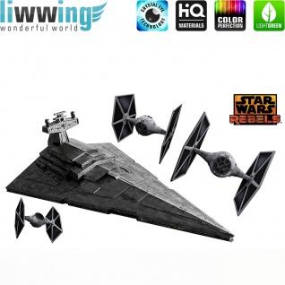 Wandsticker Disney Star Wars - No. 4640 Wandtattoo Sticker Kinderzimmer Laserschwert Weltall Raumschiffe Jungen