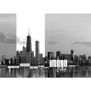 Fototapete New York Tapete Chicago New York Las Vegas Skyline Schrift Schwarz-Weiß Wasser schwarz - weiß | no. 281