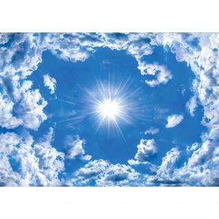 Fototapete Himmel Tapete Wolke Wolken Sonne Licht Strahlen blau | no. 2389