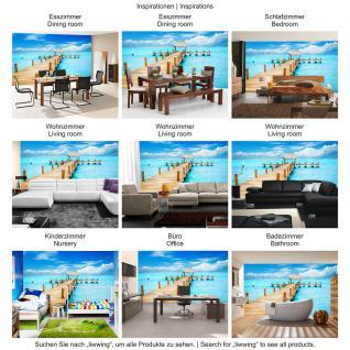 liwwing Vlies Fototapete 400x280 cm PREMIUM PLUS Wand Foto Tapete Wand Bild Vliestapete - Strand Meer Nordsee Ostsee Beach Wasser Blau Himmel Sonne Sommer - no. 159 - Vorschau 5