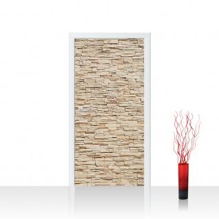 Türtapete - Asian Brick Stone Wall Kleine Steine Asia Steine Asian Stone Wall | no. 78