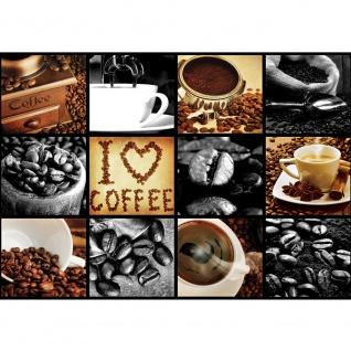 Fototapete Kulinarisches Tapete Kaffee, Barista, Kaffeebohnen, Rahmen schwarz schwarz - weiß | no. 3280
