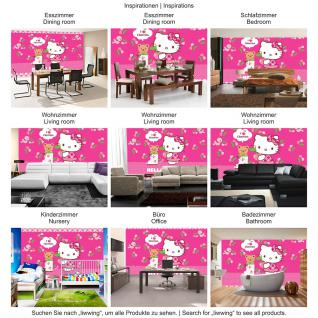 liwwing Fototapete 254x168 cm PREMIUM Wand Foto Tapete Wand Bild Papiertapete - Mädchen Tapete Hello Kitty - Kindertapete Cartoon Katze Gitarre Keyboard Kinder pink - no. 1025 - Vorschau 5