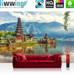 liwwing Vlies Fototapete 350x245 cm PREMIUM PLUS Wand Foto Tapete Wand Bild Vliestapete - Natur Bali Tempel - no. 248