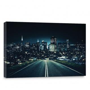 Leinwandbild Stadt Nacht Stadt bei Nacht Lichter Skyline | no. 5653