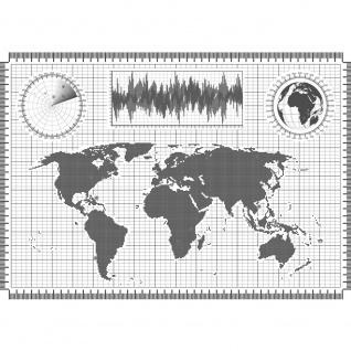 Fototapete Städte & Länder Tapete Landkarte Karte Kontinent Globus Atlas Wissenschaft grau | no. 4312