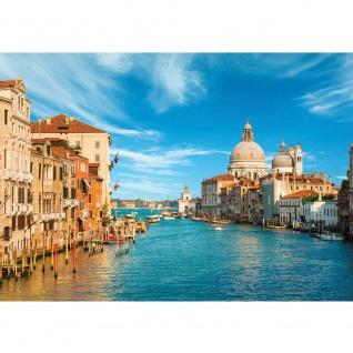 Fototapete Venedig Tapete Venedig Wasser Dom Himmel Häuser Italien blau   no. 444