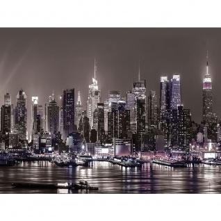 Leinwandbild Skyline Nacht Lichter Hafen Fluss Tower Häuser | no. 1965 - Vorschau 3