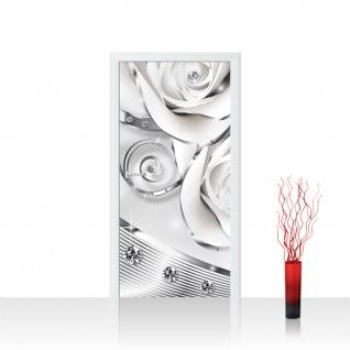 Türtapete - Abstrakt Diamant Rose | no. 810