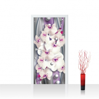 Türtapete - Abstrakt Orchidee Perlen | no. 371