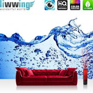 liwwing Vlies Fototapete 300x210 cm PREMIUM PLUS Wand Foto Tapete Wand Bild Vliestapete - Ozean Meer Wasser See Welle Sturm Blau Türkis - no. 153
