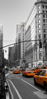 Türtapete - Manhattan Skyline Taxis City Stadt | no. 194 - Vorschau 5