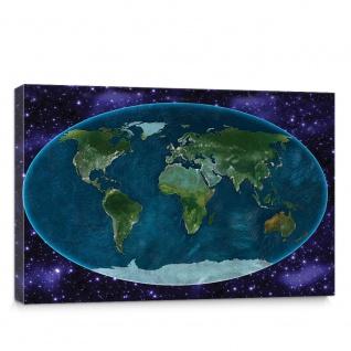 Leinwandbild Weltkarte Landkarte Erde Globus Kontinente | no. 5136