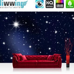 liwwing Vlies Fototapete 350x245 cm PREMIUM PLUS Wand Foto Tapete Wand Bild Vliestapete - A MILLION STARS - Sternenhimmel Stars Sterne Leuchtsterne Nachthimmel- no. 028