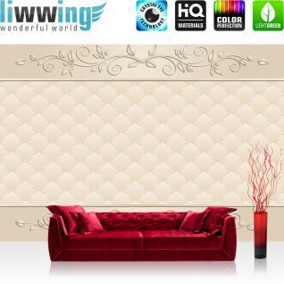 liwwing Vlies Fototapete 400x280 cm PREMIUM PLUS Wand Foto Tapete Wand Bild Vliestapete - Ornamente Tapete Abstrakt Schnörkel Muster Rechteck beige - no. 548