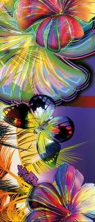 Türtapete - Abstrakt Blüten Schmetterling   no. 479 - Vorschau 5