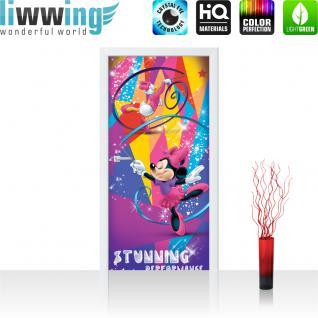 liwwing Türtapete selbstklebend 91x211 cm PREMIUM PLUS Tür Fototapete Türposter Türpanel Foto Tapete Bild - DISNEY Minnie Mouse Daisy Cartoon Comic - no. 312