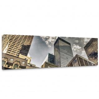 Leinwandbild Manhattan Skyscrapers NYC Hochhäuser Streetview New York Skyline | no. 54 - Vorschau 1