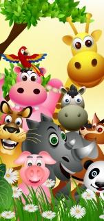 Türtapete - Jungle Animals Party Kindertapete Dschungel Zoo Tiere Löwe Affe | no. 13 - Vorschau 5