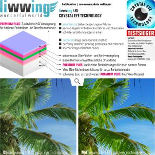 liwwing Vlies Fototapete 152.5x104cm PREMIUM PLUS Wand Foto Tapete Wand Bild Vliestapete - Holz Tapete Stamm Querschnitt Lebensringe Natur braun - no. 2483 - Vorschau 3