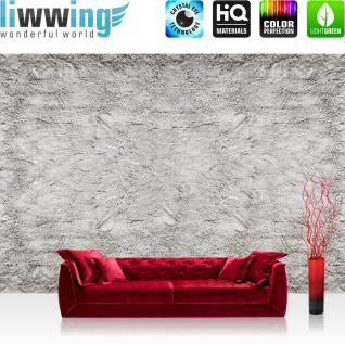 liwwing Vlies Fototapete 208x146cm PREMIUM PLUS Wand Foto Tapete Wand Bild Vliestapete - Steinwand Tapete Steinoptik Stein Wand Beton weiß - no. 2013