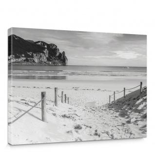Leinwandbild Strand Wasser Meer Weg | no. 1850