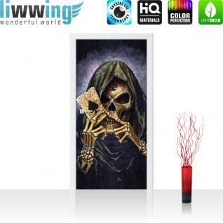 liwwing Türtapete selbstklebend 91x211 cm PREMIUM PLUS Tür Fototapete Türposter Türpanel Foto Tapete Bild - Ace of Spades Reeper Card of Death - no. 1141