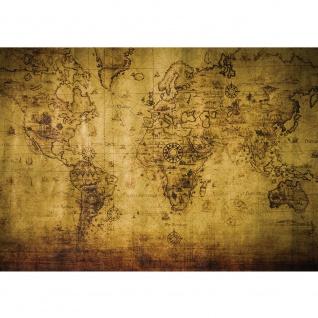 Fototapete Geographie Tapete Karte Geografie Vintage braun   no. 1781
