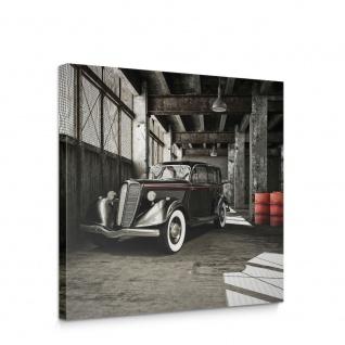 Leinwandbild Auto Oldtimer Garage Halle Werkhalle | no. 5667