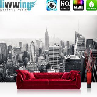 liwwing Vlies Fototapete 300x210 cm PREMIUM PLUS Wand Foto Tapete Wand Bild Vliestapete - MANHATTAN SKYLINE no.2 - New York City USA Amerika Empire State Building Big Apple - no. 118