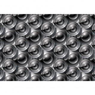 Fototapete Kunst Tapete Abstrakt Kreise Muster Kunst grau | no. 2126