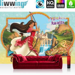 liwwing Fototapete 368x254cm PREMIUM Wand Foto Tapete Wand Bild Papiertapete - Kindertapete Disney - Dornröschen Tapete Prinzessin Schloss Burg Dornröschen bunt - no. 3443