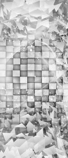 Türtapete - Abstrakt Dreieck Quadrat Würfel 3D Optik | no. 882 - Vorschau 5